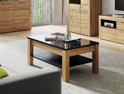 Camar Oak Effect and Black Gloss Coffee table K41 - 2711